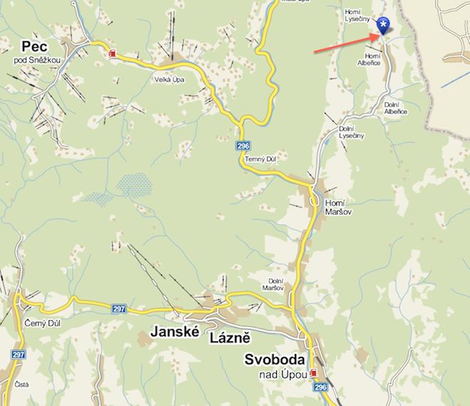 Mapa Horní Albeřice