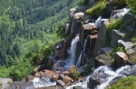 Pančavský vodopád, 148m, nejvyšší vodopád v Česku