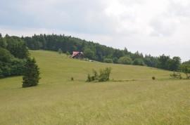 osamělá chata Hubertus v krásné krajině