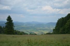 krásné výhledy cestou k chatě Hubertus