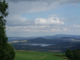 pohled do Polska cestou od Hubertusu