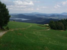 výhled do Polska cestou od Hubertusu